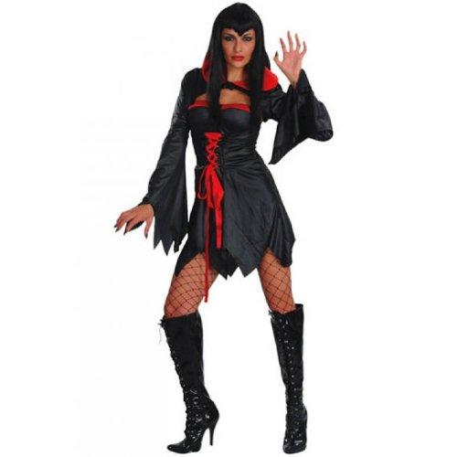 Black Vamp schwarz M Kostüm für Erwachsene