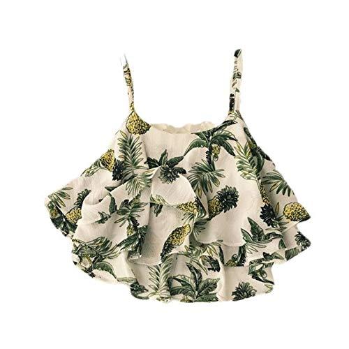 Wawer T-Shirt Tops, mit Print Art- und Weisefrauen lösen Oberseiten Leibchen Weste reizvolle ärmellose Druckbluse Damen unterhemd mit Print - Komfort Stoff Bandagen