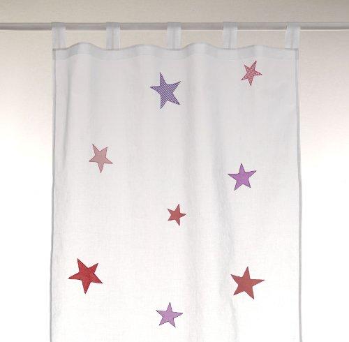 Cortina para habitación de bebé / infantil - 100% algodón alta calidad - estrella niña