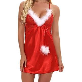 BaZhaHei-Navidad, Racy Traje de Especia Ropa Interior de Mujer Navidad Tallas Grandes Mujer Ropa Interior de Encaje para Mujer Liguero Encaje Navidad Lenceria de Mujer Camisetas Interior de Mujer
