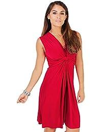 KRISP® Femmes Robe Inspiration Portefeuille Soirée Cocktails Elégante Différents Coloris Disponible