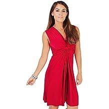 KRISP Vestido Corto Mujer Vuelo Casual Talla Grande Joven Elegante
