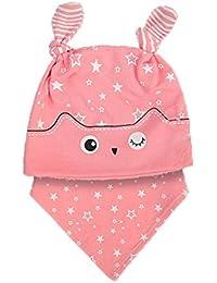 Tpulling Bonnet Bebe, Bébé Filles Mignon Chapeau de Mode + Bandana Bavoir  Serviette de salive écharpe… 03cbec9fbbc