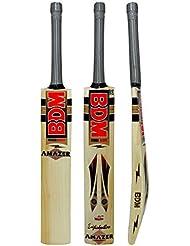 Amazer Inglés Willow Wood BDM bate de cricket Con Carry tamaños adultos Mango Corto - elija el tamaño