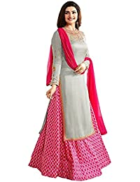 Crazy Women's Party Wear Georgette Salwar Suits For Women Semi Stitched (Pink)