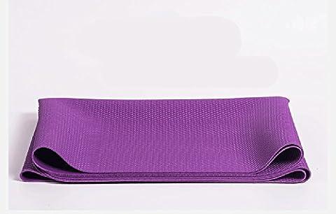 MDRW-Amateurs De Yoga Caoutchouc Naturel Pur Pilates Yoga De Protection De L'Environnement Mat Ultra Léger De 1 5 Mm Tampon De Pliage Élargissement 183*61Cm Violet Tapis De Yoga