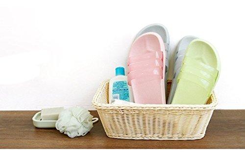 Unisex-Hausschuhe rutschfeste öffnen Tote Dusche Sandalen Innen-Mule Think EVA Sohle aus Kunstharz steckschäume Pool Schuhe Badezimmer Slide für Erwachsene Grau