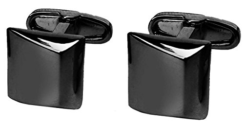 Black Stealth Moderno Square boutons de manchette de denisonboston