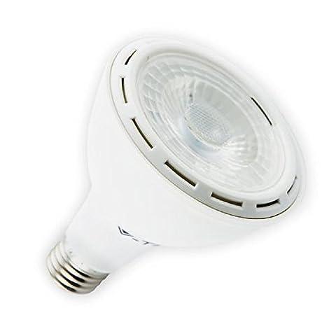 V-TAC LED PAR3012W Lampe–Blanc pur–4500K–Standard Culot à vis Edison ES E27/12W = équivalent 60W/750Lumen/Faisceau 40°/vie 20000heures/non dimmable/220–240V 50hzsupply/SKU: 4267