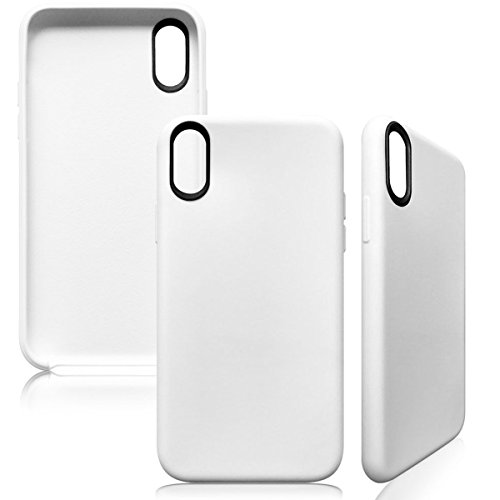 iPhone 8 Hülle Silikonhülle für Apple iPhone 8 Hülle Silikon TPU Schutzhülle Slim Case Cover, Weiß Weiß