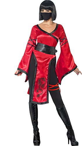 Imagen de smiffy's  disfraz de guerrero de la sombra, adultos, color rojo 43727s