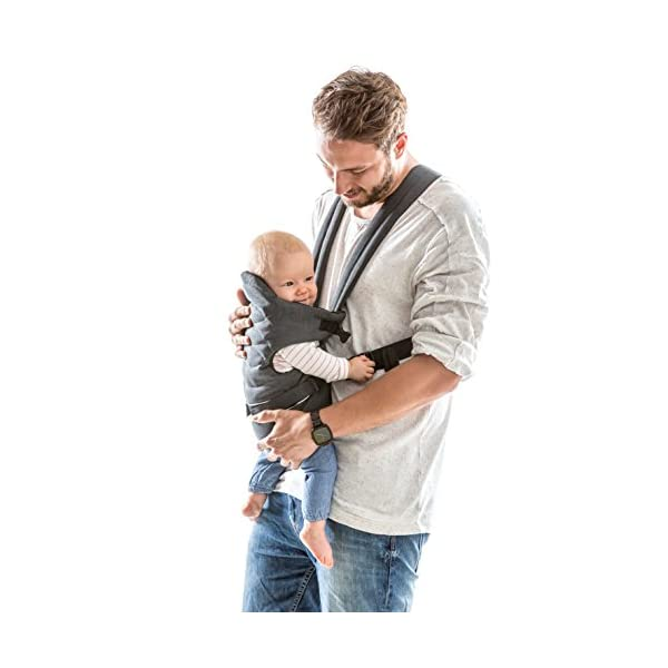 Hauck 2 Way Carrier, Ergonomic Baby Carrier Newborn to Toddler from Birth up to 12 kg, Softly Padded, Two Carrying Possibilities, High Level of Carrying Comfort, Melange Charcoal Hauck 2 carrying possibilities on the front Reinforced head and back area Safe and ergonomic baby carrier 3