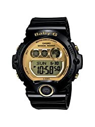 Casio Women s BG6901-1 Baby-G Black Resin and Gold-Tone Accented Large Digital Sport Watch
