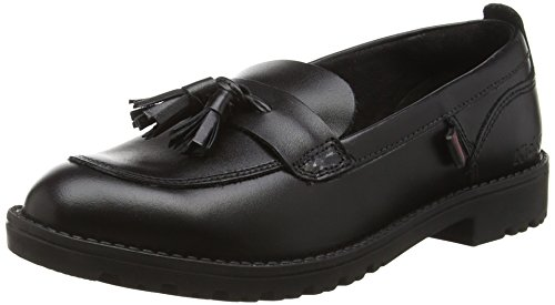 Kickers Lachly Juniors, Mocassins Fille Noir - Noir