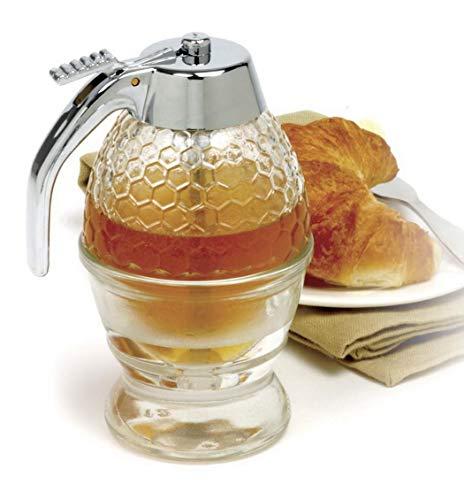 Xixini Dispensador Miel portátil Jar Cocina Miel