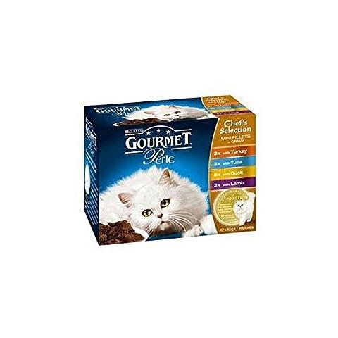 Gourmet Perle Chat Adulte Nourriture Avec De La Dinde, Le Thon, Le Canard Et L'Agneau 85G Paquet De 12 (1,02