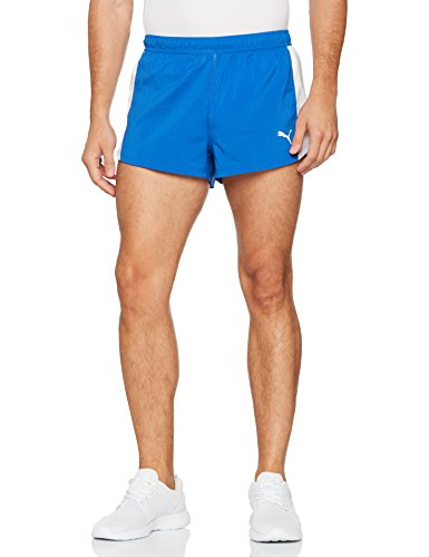 PUMA Herren Cross the Line Split Shorts, Team Power Blue, M (Short Team Split)