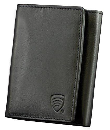 Nuovo KORUMA pelle RFID portafoglio - finitura di alta qualità - completamente protetto - vera pelle - certificato TUV - completamente protetto (KIT-71 SNBL)