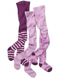 Wellyou calzas-Lote de 3, diseño de rayas, color malva