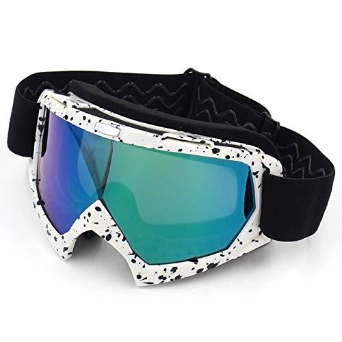 Daesar Gafas Esqui Unisex Gafas Deportivas Hombre Blanco Negro Color Gafas Protectoras