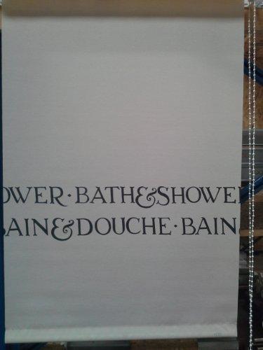 Duschrollo 45x185 cm 1783 Rollo Duschvorhang mit Seitenzug Duschwand Duschabtrennung (Duschvorhang Schwarz Und Aqua)
