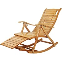 Mecedoras de Madera Cómoda reclinable Silla Adultos y Ancianos Lazy Balcony Silla de nap Silla de Masaje Plegable para Ancianos Ancianos