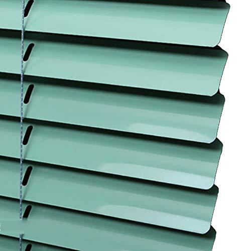 Jalousie Neue 120 cm Aluminium, Küche Büro Badezimmer Schlafzimmer Wohnzimmer, Unterstützung Anpassung, 3 Farben zur Auswahl (Farbe : Grün, größe : 120(W) x180(H) cm) (Für Jalousien Schlafzimmer)