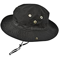 QHIU Cappello Pescatore tattico Boonie Protezione Solare Visiere Camo  Militare per Campeggio Escursionismo Pesca Uomo Unisex 4cd0b4888cab
