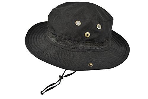 QHIU Tactico Militar Boonies Sombreros Camuflaje Redondo Hat Anti-UV para Pescar Camping...