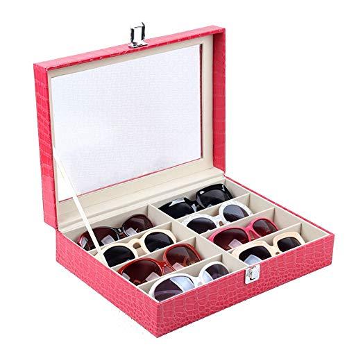 Zhongsufei Sonnenbrille Aufbewahrungsbox Sonnenbrillen Vitrine Sunglass Eyewear Display Storage Case Tray -