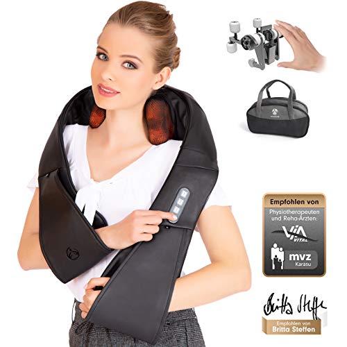 RelaxxNow 4D Massagegerät für Schulter Rücken & Nacken, Shiatsu Wellness Ganzkörper Nackenmassagegerät & Wärme Massage wie von Hand, Entspannung, Schmerztherapie, Auto & Zuhause