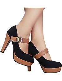 Sonnena Chaussures Escarpins Super Talon 11cm Boucle en Métal Mode Bottines  Patchwork Bout Rond Casual Bottes 6215b0a43229