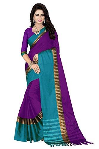 sarees new collection(TexStile Womens Dark Purple Colour Cotton Saree For Womens _TA-57_Dark...