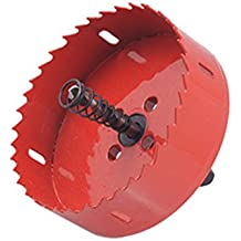 Sourcingmap a10092000ux0243 - Corte agujero herramienta de corte de 90 mm de diámetro bimetálico sierra de corona roja