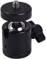 """Generic Swivel Mini Ball Head 1/4"""" Screw DSLR Camera Tripod Ballhead Stand Support"""