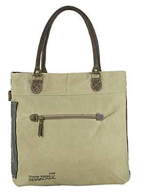 mujer bolsa de mensajero vintage bolsa cruzada de lona militar 43x36x11 cm 1803
