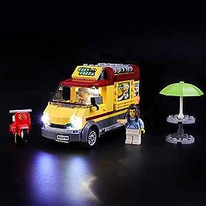 LIGHTAILING Set di Luci per (City Furgone delle Pizze) Modello da Costruire - Kit Luce LED Compatibile con Lego 60150… 0716852279821 LEGO