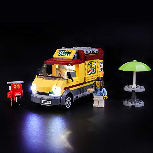 LIGHTAILING Conjunto de Luces (City Great Vehicles Camión de Pizza) Modelo de Construcción de Bloques - Kit de luz LED Compatible con Lego 60150 (NO Incluido en el Modelo)