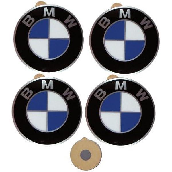 4x Original Bmw Logo Radnaben Emblem 45mm Plakette Felgenemblem Selbstklebend Neu Auto
