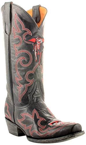 Gameday Boots NCAA Texas Tech Red Raiders Men's, Black, 13 D (M) US (Boots Square Black Toe)