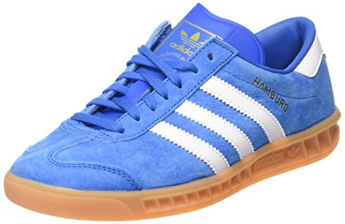 adidas Herren Hamburg Low-Top Blau (Bluebird/FTWR White/Gum) 37 1/3 EU