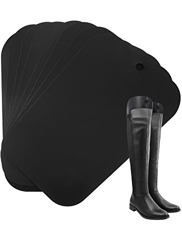 Boot Shaper Form Einsätze Hohe Stiefel Unterstützung für Damen und Männer, 8 Stück für 4 Paar Stiefel (14 Zoll, Schwarz)