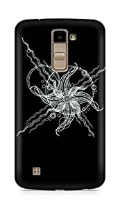 Amez designer printed 3d premium high quality back case cover for LG K10 (Abstract Dark 19)