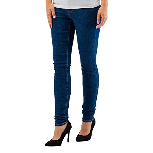 Vero Moda Damen Jeans / Skinny Jeans vmSeven Blau