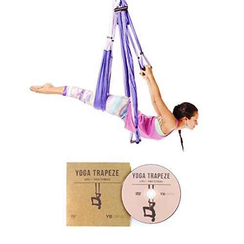 Yoga Trapeze por YOGABODY de Color Lila, para Colgarse y Aliviar el Do
