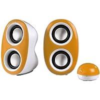 Hama Dispersion PC-Lautsprecher (3,5mm Klinkenstecker, USB) orange