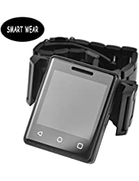 Bluetooth Smartwatch Android Fitness pulsera Pulso & Fitness Tracker Junior/Sport Reloj de pulsera Smart braceletsm tipo pulsera iOS–Lost de función/sentada Recuerdo–Negro