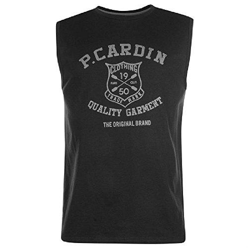 Pierre Cardin Herren T-Shirt Schwarz