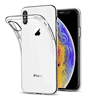 Arktis iPhone XS, iPhone X Hülle, Transparent [Invisible Air Case] weiche TPU Silikon Handyhülle durchsichtige Schutzhülle [Ultra Clear] - Rückschale Transparent Klar [Case Cover] Durchsichtig