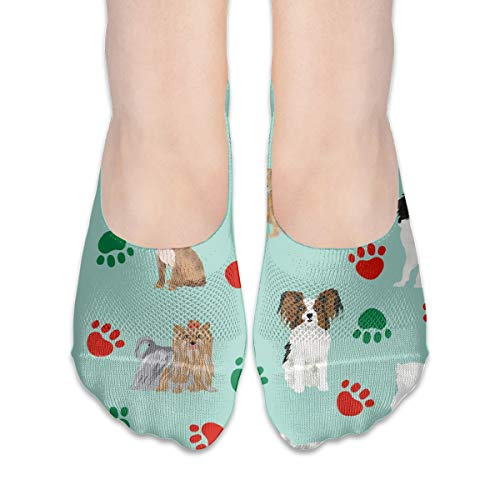 New Hats Christmas Paws Dog Cute Dogs Dog Best Dog Cotton Low Cut Socks Non-Slip Grips Casual for Men and Women Low Heel Slip Heels